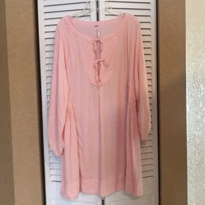 Free People peach mini tunic dress